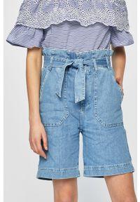 Niebieskie szorty Pepe Jeans na co dzień, z podwyższonym stanem