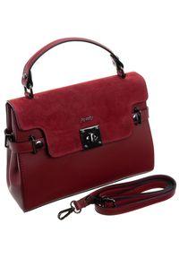 Czerwona torebka ROVICKY zamszowa, klasyczna