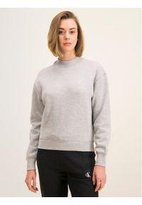 Calvin Klein Jeans Bluza Embroidered Logo J20J212875 Szary Regular Fit. Kolor: szary