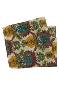 Wielokolorowa poszetka EM Men's Accessories w kolorowe wzory