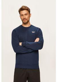 Niebieska bluza nierozpinana Reebok Classic casualowa, na co dzień, z okrągłym kołnierzem