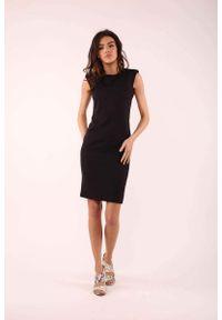 Czarna sukienka wizytowa Nommo elegancka, bez rękawów