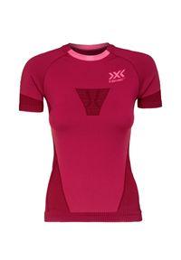 Różowa koszulka sportowa X-Bionic z krótkim rękawem, długa, do biegania