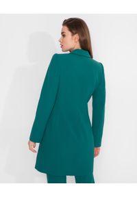 MARLU - Zielona sukienka marynarkowa. Kolor: zielony. Materiał: tkanina, wiskoza. Długość rękawa: długi rękaw. Długość: długie. Styl: elegancki