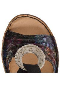 Czarne sandały Comfortabel z aplikacjami