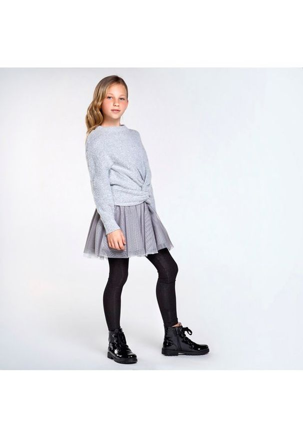 Mayoral Komplet sweter i sukienka 7974 Szary Regular Fit. Kolor: szary