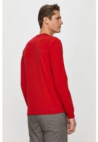 Czerwona bluza nierozpinana Guess bez kaptura, na co dzień, casualowa, z nadrukiem