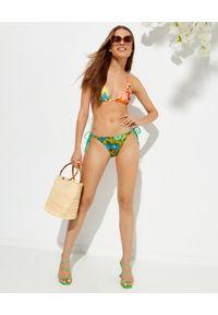 ZIMMERMANN - Wzorzyste bikini Estelle. Kolor: niebieski. Materiał: materiał. Wzór: kwiaty, paski, nadruk