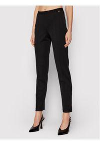 Luisa Spagnoli Spodnie materiałowe Minuendo 211532620 Czarny Regular Fit. Kolor: czarny. Materiał: materiał