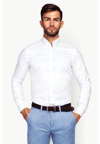 Biała koszula Lancerto casualowa, na lato, z haftami, na co dzień
