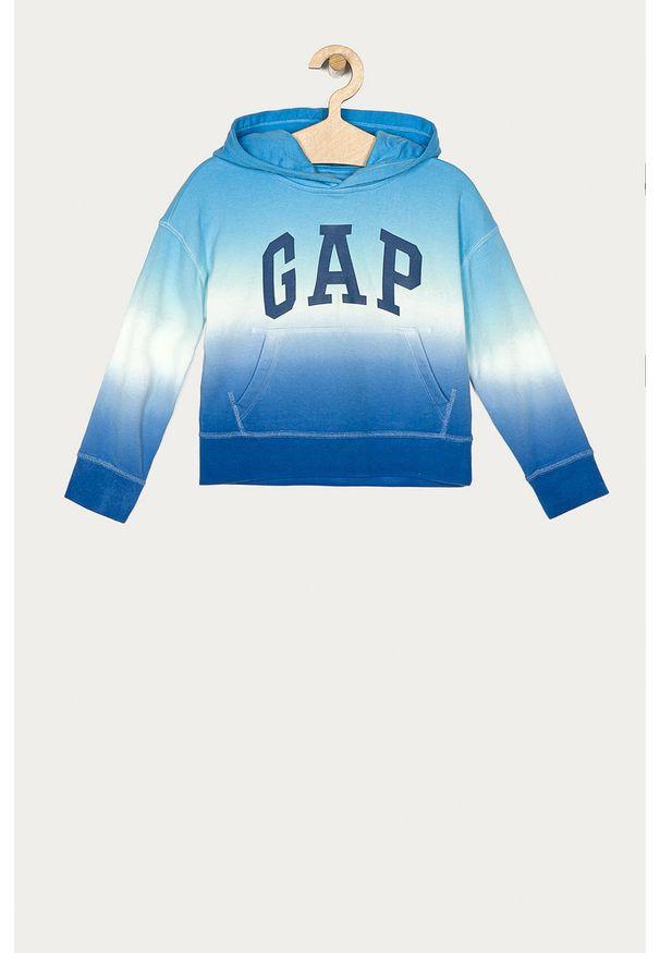 Niebieska bluza GAP z kapturem, na co dzień, casualowa