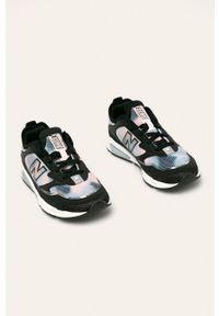 Czarne buty sportowe New Balance z okrągłym noskiem, na sznurówki, z cholewką
