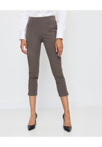 SEDUCTIVE - Brązowe spodnie modelujące. Kolor: brązowy. Materiał: materiał. Wzór: gładki. Styl: klasyczny