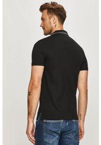 Czarna koszulka polo Hugo polo, casualowa, krótka, na co dzień