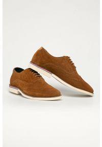 Pepe Jeans - Półbuty skórzane Dave. Nosek buta: okrągły. Zapięcie: sznurówki. Kolor: brązowy. Materiał: skóra #3
