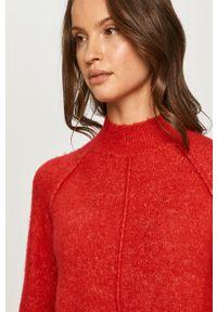 Czerwony sweter Pepe Jeans na co dzień, z długim rękawem, casualowy