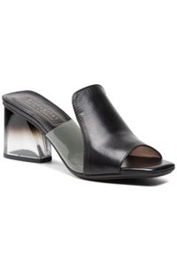 Hispanitas - Klapki HISPANITAS - Soho-V21 HV211219 Black. Kolor: czarny. Materiał: skóra. Sezon: lato. Obcas: na obcasie. Wysokość obcasa: średni