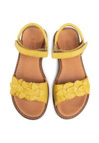 Żółte sandały Froddo z aplikacjami