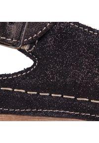 Łukbut - Sandały ŁUKBUT - 11040-3-L-426 Srebrno/Szary. Okazja: na co dzień. Kolor: czarny. Materiał: skóra, zamsz. Styl: casual #6