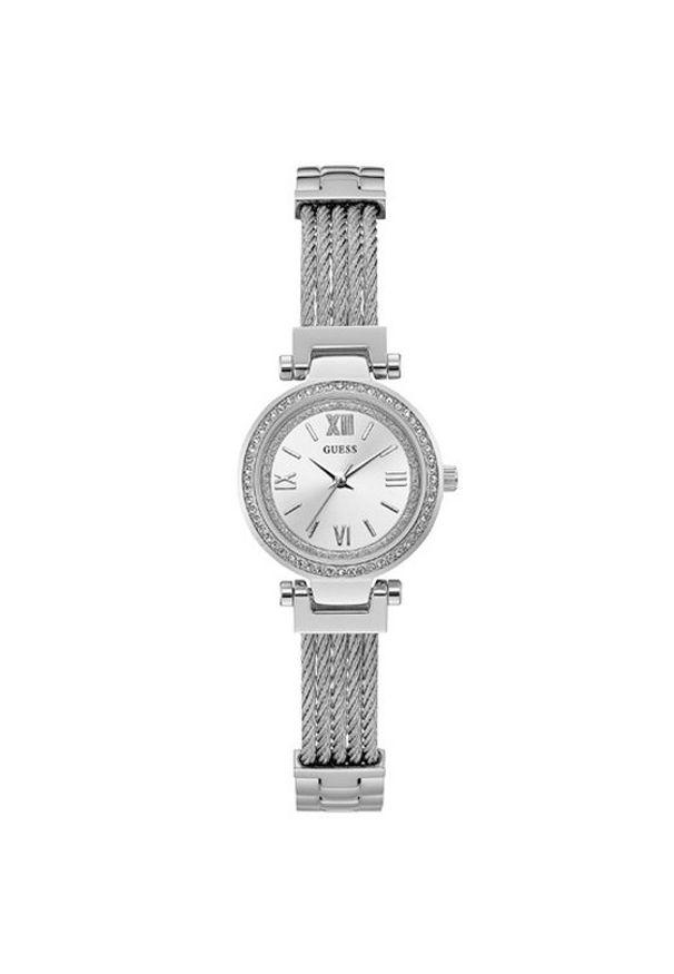 Srebrny zegarek Guess