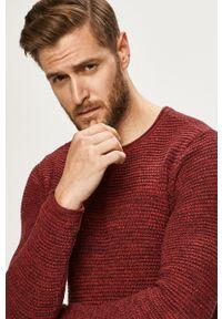 Brązowy sweter Blend z okrągłym kołnierzem