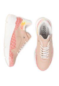 Hego's Milano - Sneakersy HEGO'S MILANO - 1270C Rosa. Okazja: na co dzień, na spacer. Kolor: różowy. Materiał: skóra ekologiczna. Szerokość cholewki: normalna. Sezon: lato. Styl: casual
