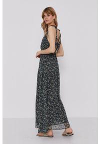 Pepe Jeans - Sukienka Olivia. Materiał: tkanina. Długość rękawa: na ramiączkach