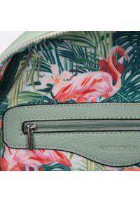 Wittchen - Damski plecak miejski z kolorową podszewką. Materiał: skóra ekologiczna. Wzór: kolorowy. Styl: wakacyjny, klasyczny #5