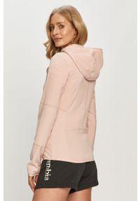 Różowa bluza rozpinana Only Play casualowa, gładkie, z kapturem, na co dzień