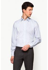 Lancerto - Koszula Biała z Nadrukiem Molly. Kolor: biały. Materiał: włókno, wełna, tkanina, bawełna, jeans. Wzór: nadruk