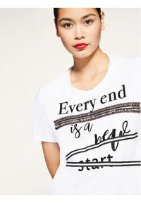 Biały t-shirt Persona by Marina Rinaldi