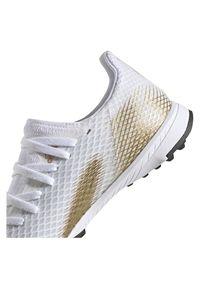 Adidas - Buty piłkarskie turfy dla dzieci adidas X Ghosted 3 EG8214. Zapięcie: pasek. Szerokość cholewki: normalna. Wzór: aplikacja. Sport: piłka nożna