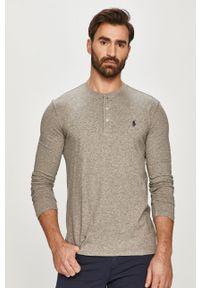 Szara koszulka z długim rękawem Polo Ralph Lauren casualowa, na co dzień, polo