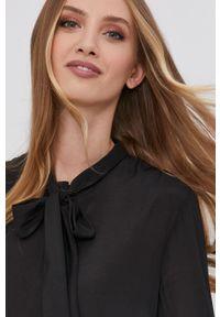 Marella - Koszula. Okazja: na co dzień. Kolor: czarny. Materiał: tkanina. Długość rękawa: długi rękaw. Długość: długie. Wzór: gładki. Styl: casual