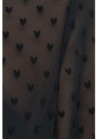 Vila - Koszula. Okazja: na co dzień. Kolor: czarny. Materiał: tkanina, materiał. Długość rękawa: długi rękaw. Długość: długie. Wzór: gładki. Styl: casual