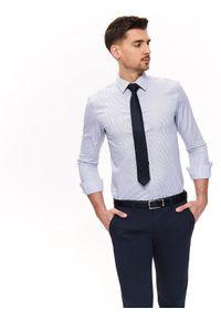 Biała koszula TOP SECRET casualowa, na wiosnę, na co dzień