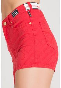 Szorty Versace Jeans w kolorowe wzory, rockowe, z podwyższonym stanem, krótkie
