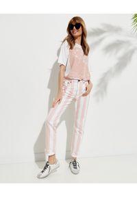 ONETEASPOON - EDYCJA LIMITOWANA OneTeaspoon x Moliera 2 - Spodnie w pasy Awesome Baggies. Stan: podwyższony. Kolor: biały. Materiał: bawełna. Wzór: aplikacja #2