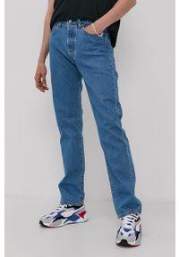 Levi's® - Levi's - Jeansy 501 Original. Okazja: na co dzień, na spotkanie biznesowe. Kolor: niebieski. Styl: biznesowy, casual