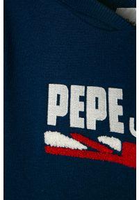 Niebieska bluza Pepe Jeans na co dzień, casualowa, z kapturem, gładkie