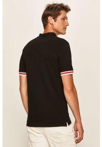 Czarna koszulka polo Guess Jeans na co dzień, polo