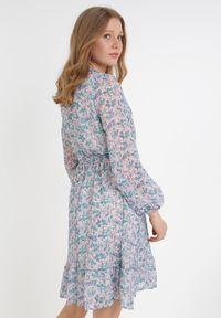 Born2be - Niebieska Sukienka Iphaia. Kolor: niebieski