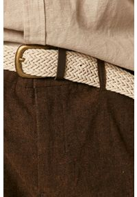 medicine - Medicine - Spodnie Basic. Kolor: brązowy. Materiał: dzianina. Wzór: gładki