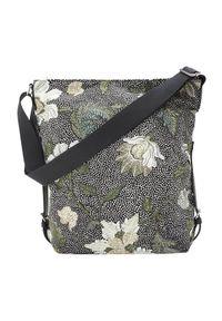 Czarna torebka Ceannis zdobiona, w kwiaty, na ramię, klasyczna