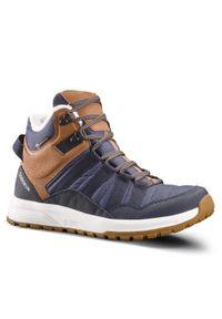 quechua - Buty turystyczne damskie wodoodporne Quechua SH100 X-Warm. Okazja: na spacer, na co dzień. Kolor: pomarańczowy, wielokolorowy, beżowy, niebieski. Materiał: materiał. Szerokość cholewki: normalna. Sezon: zima. Styl: sportowy, casual