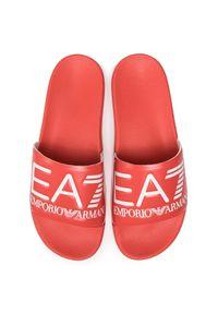 Czerwone klapki EA7 Emporio Armani na co dzień, casualowe