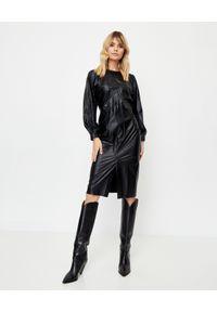 ISABEL MARANT - Czarna sukienka Drea. Kolor: czarny. Materiał: dresówka, materiał. Długość rękawa: długi rękaw. Styl: klasyczny