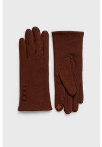 Aldo - Rękawiczki Ibenadia. Kolor: brązowy. Materiał: materiał