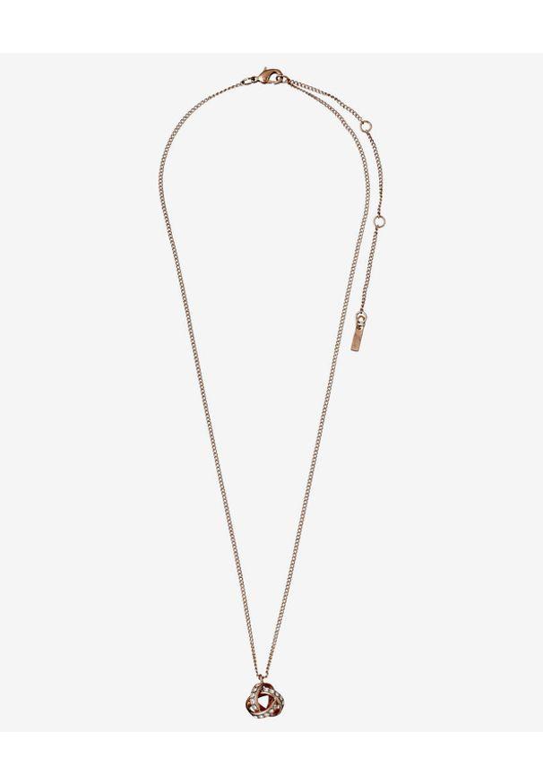 Złoty naszyjnik Pilgrim z mosiądzu, w kolorowe wzory, z kryształem