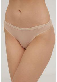 Calvin Klein Underwear - Stringi CK One (2-pack). Kolor: beżowy